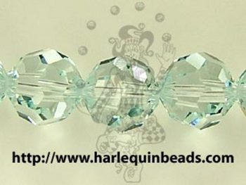 Swarovski Crystal 8mm Round Bead 5000 - Light Azore - Pale Aqua Blue - Transparent Finish
