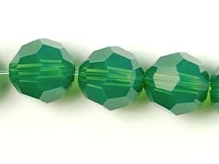 Swarovski Crystal 8mm Round Bead 5000 - Palace Green Opal - Opalescent Finish