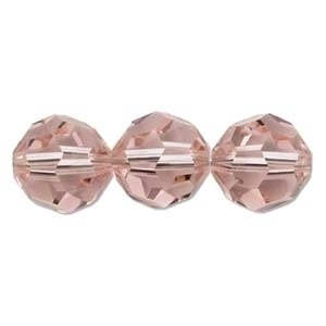 Swarovski Crystal 8mm Round Bead 5000 - Vintage Rose - Pink - Transparent Finish | Harlequin Beads and Jewelry