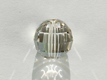 Swarovski Crystal 12mm Chessboard Bead 5005 - Crystal Silver Shade - Transparent with Finish