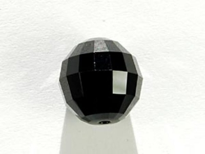 Swarovski Crystal 12mm Chessboard Bead 5005 - Jet - Black - Opaque Finish