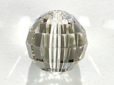Swarovski Crystal 16mm Chessboard Bead 5005 - Crystal Silver Shade - Transparent with Finish