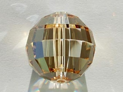 Swarovski Crystal 16mm Chessboard Bead 5005 - Crystal Golden Shadow - Transparent with Finish
