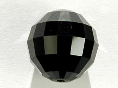 Swarovski Crystal 16mm Chessboard Bead 5005 - Jet - Black - Opaque Finish