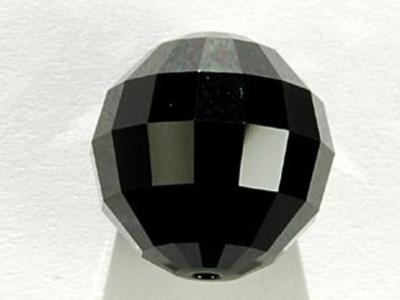Swarovski Crystal 16mm Chessboard Bead 5005 - Jet - Black - Opaque Finish