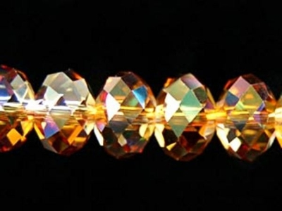 Swarovski Crystal 6mm Rondell Bead 5040 - Crystal Copper - Transparent Iridescent Finish
