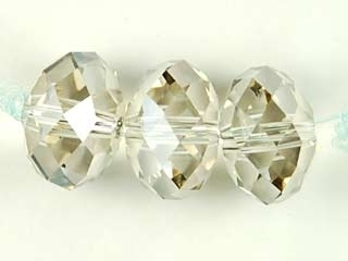 Swarovski Crystal 6mm Rondell Bead 5040 - Crystal Silver Shade - Transparent with Finish