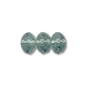 Swarovski Crystal 6mm Rondell Bead 5040 - Erinite - Bluish Green - Transparent Finish