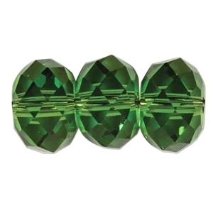 Swarovski Crystal 6mm Rondell Bead 5040 - Fern Green - Transparent Finish