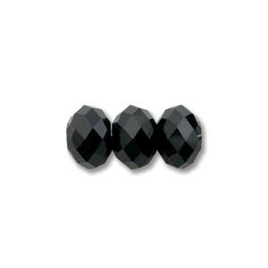 Swarovski Crystal 6mm Rondell Bead 5040 - Jet - Black - Opaque Finish