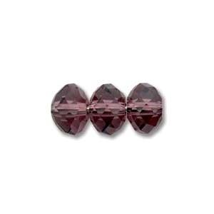 Swarovski Crystal 8mm Rondell Bead 5040 - Amethyst - Dark Purple - Transparent Finish