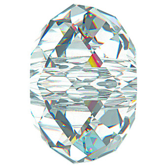Swarovski Crystal 8mm Rondell Bead 5040 - Crystal - Clear - Transparent Finish