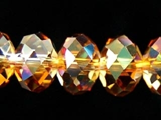Swarovski Crystal 8mm Rondell Bead 5040 - Crystal Copper - Transparent Iridescent Finish