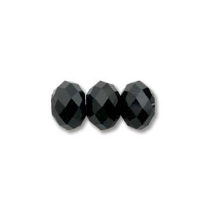 Swarovski Crystal 8mm Rondell Bead 5040 - Jet - Black - Opaque Finish