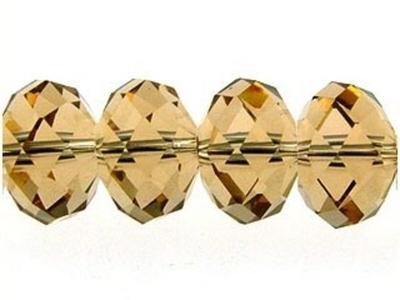 Swarovski Crystal 8mm Rondell Bead 5040 - Light Colorado Topaz - Light Brown - Transparent Finish
