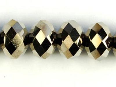 Swarovski Crystal 8mm Rondell Bead 5040 - Crystal Metallic Light Gold 2X - Full Coat Finish