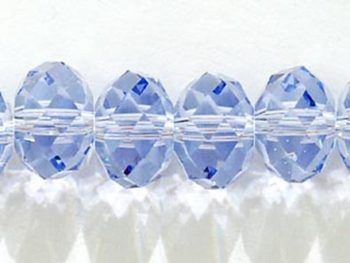 Swarovski Crystal 8mm Rondell Bead 5040 - Provence Lavender - Transparent Finish