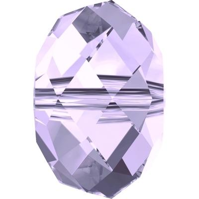 Swarovski Crystal 8mm Smoky Mauve Rondell Bead 5040 with Transparent Finish