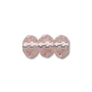 Swarovski Crystal 8mm Rondell Bead 5040 - Vintage Rose - Pink - Transparent Finish