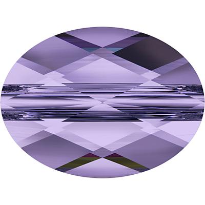 Swarovski Crystal 8 x 10mm Faceted Flat Mini Oval Bead 5051 - Tanzanite - Transparent Finish