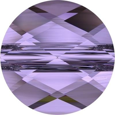 Swarovski Crystal 8mm Faceted Flat Mini Round Bead 5052 - Tanzanite - Transparent Finish