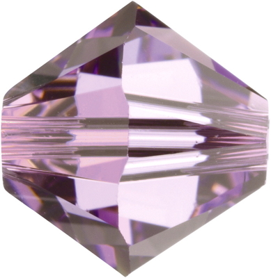 Swarovski Crystal 3mm Bicone Bead 5328 - Light Amethyst - Light Purple - Transparent Finish