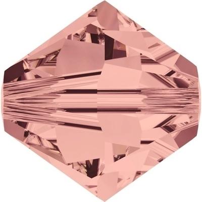 Swarovski Crystal 3mm Blush Rose Bicone Bead 5328 with Transparent Finish