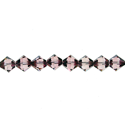 Swarovski Crystal 3mm Bicone Bead 5328 - Crystal Antique Pink - Transparent with Finish