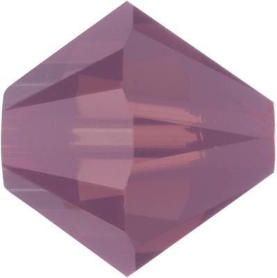 Swarovski Crystal 3mm Bicone Bead 5328 - Cyclamen Opal - Purple - Opalescent Finish