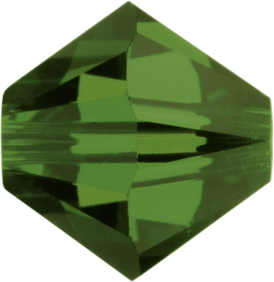 Swarovski Crystal 3mm Bicone Bead 5328 - Fern Green - Transparent Finish