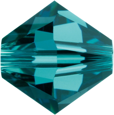Swarovski Crystal 3mm Bicone Bead 5328 - Indicolite - Blue Green - Transparent Finish