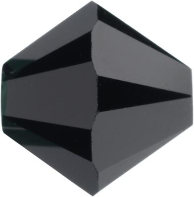 Swarovski Crystal 3mm Bicone Bead 5328 - Jet - Black - Opaque Finish
