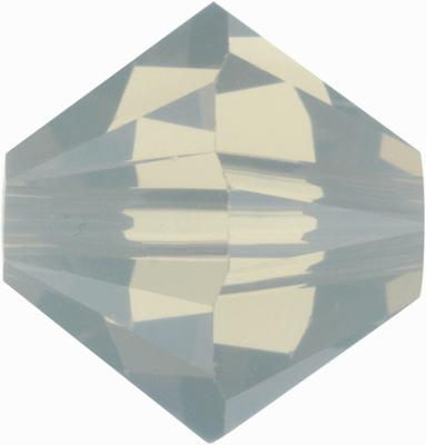 Swarovski Crystal 3mm Bicone Bead 5328 - Light Grey Opal - Opalescent Finish