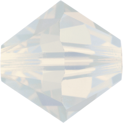 Swarovski Crystal 3mm Bicone Bead 5328 - White Opal - Opalescent Finish