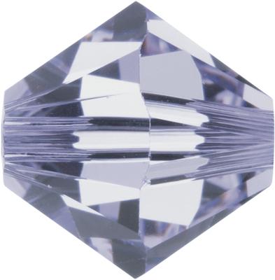 Swarovski Crystal 3mm Bicone Bead 5328 - Provence Lavender - Transparent Finish