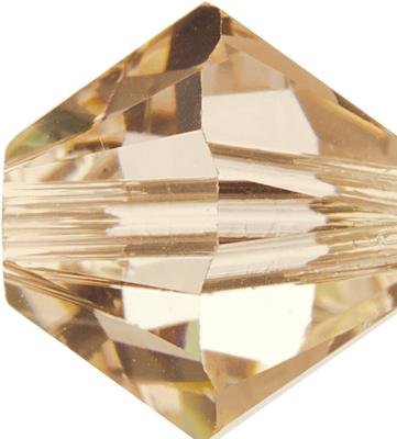 Swarovski Crystal 3mm Bicone Bead 5328 - Silk - Light Peachy Pink - Transparent Finish | Swarovski 5328