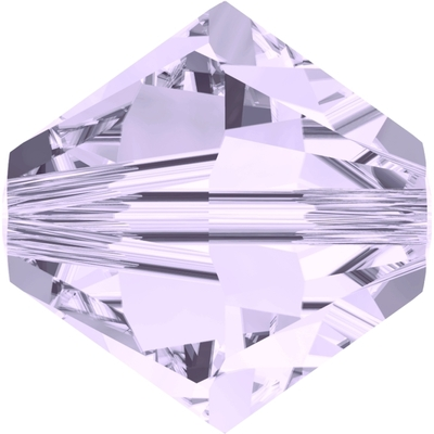 Swarovski Crystal 3mm Smoky Mauve Bicone Bead 5328 withTransparent Finish
