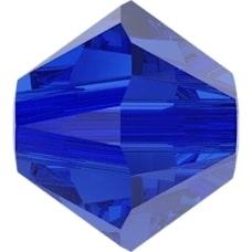 Swarovski Crystal Beads 4mm bicone 5328 majestic blue transparent   Swarovski Crystal Beads