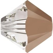 Swarovski Crystal 4mm Bicone Bead 5328 - Crystal Rose Gold - Transparent with Finish