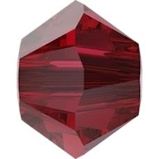 Swarovski Crystal Beads 4mm bicone 5328 scarlet transparent   bicone 5328