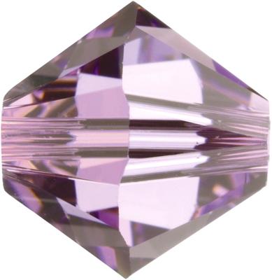 Swarovski Crystal 4mm Bicone Bead 5328 - Light Amethyst - Light Purple - Transparent Finish