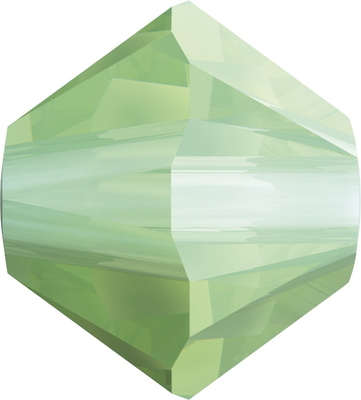 Swarovski Crystal 4mm Bicone Bead 5328 - Chrysolite Opal - Opalescent Finish