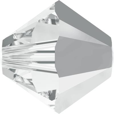 Swarovski 4mm Crystal Light Chrome Transparent Bicone 5328 Beads with Finish