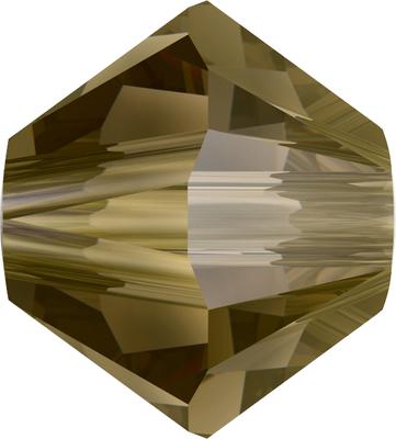 Swarovski Crystal 4mm Bicone Bead 5328 - Crystal Bronze Shade - Transparent with Finish