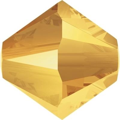 Swarovski 4mm Crystal Metallic Sunshine Bicone Bead 5328 Transparent with Finish