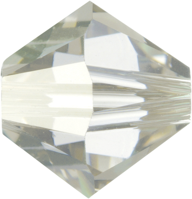 Swarovski Crystal 4mm Bicone Bead 5328 - Crystal Silver Shade - Transparent with Finish
