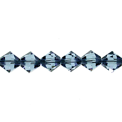 Swarovski Crystal 4mm Bicone Bead 5328 - Denim Blue - Transparent Finish