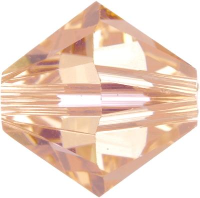 Swarovski Crystal 4mm Bicone Bead 5328 - Light Peach - Transparent Finish