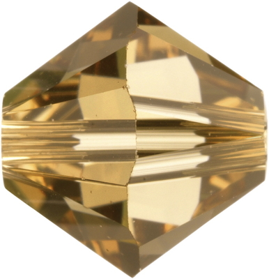 Swarovski Crystal 4mm Bicone Bead 5328 - Light Colorado Topaz - Light Brown - Transparent Finish