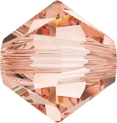 Swarovski Crystal 4mm Bicone Beads 5328 - Rose Peach  - Transparent Finish